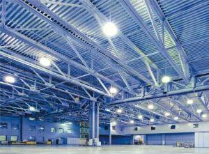 Светодиодные купольные светильники LED для склада цеха производства высоких потолков пролетов купить в Киеве по выгодной цене с бесплатной доставкой