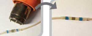 Герметичное соединение токопроводящих проводов с помощью термоусаживаемой гильзы герметичне з'єднання струмопровідних проводів за допомогою термоусаджуваної гільзи