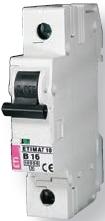 Автоматический выключатель ETIMAT 6 1p C 6А 6kA модульный на din-рейку 1-полюсный выгодно здесь купить с доставкой в Широке Шостка Шпола Шумське Щорс Яготин Якимівка, автоматичний вимикач вигідно купити тут з доставкою у Ялта Ямпіль Яремча Ясинувата