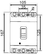 Промышленный автоматический выключатель УКРЕМ ВА-2004/250 3р 125 Ампер 380 вольт АсКо купить Киев цена