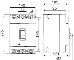 Промышленный автоматический выключатель УКРЕМ ВА-2004/400 3р 300 Ампер 380 вольт АсКо купить Киев цена