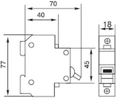 Автоматический выключатель УКРЕМ ВА-2001 1р 1А АсКо модульный на din-рейку онополюсний автоматичний вимикач ціна купити Київ