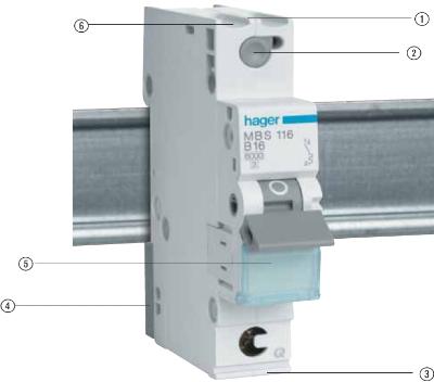 Автоматический выключатель Hager Германия 1 ампер однополюсный купить Киев цена