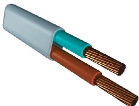 провод электрический медный гибкий ШВВП 2х1.5 (двухжильный, многопроволочная жила сечением 1.5 кв. мм, напряжение 220В, мощность до 3.3 кВт) бухта 200м купить Киев цена скидка опт