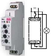 Купить Лестничный автомат с настройкой уровня освещенности DIM-2 (реле управления лестничным освещением с функцией диммера до 500W AC1) в Киеве по выгодной цене с бесплатной доставкой