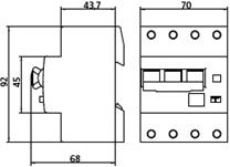 KZS 4М С 16А / 0.03А 6kA дифавтомат дифференциальный автоматический выключатель 4-полюсный купить Киев цена диференційний автоматичний вимикач чотириполюсний купити Київ ціна eti