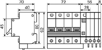 Дифференциальный выключатель ДВ-2006 4p 16А 30мА 4 полюсный купить Киев цена диференційний автоматичний вимикач чотириполюсний купити Київ ціна