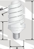 Купить компактную люминесцентную лампу - полная спираль в Киеве по выгодной цене с бесплатной доставкой