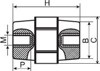 Купить изолятор держатель силовой шины, высота 25 мм, винт М6 (SM25) в Киеве по выгодной цене с бесплатной доставкой