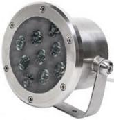Светодиодный прожектор для фонтана бассейна водопада 24Вт RGB 12В купить Киев цена доставка