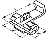 Купить cw-1.25 Клемма быстрого монтажа на провод от 0.5 до 1 квадрат мм (уп. 100шт) в Киеве по выгодной цене с доставкой