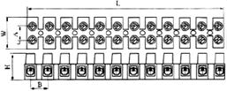 Клеммная колодка сечение до 4 квадрат мм, 5А купить с доставкой в Киеве по выгоной цене