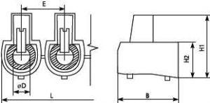 Клеммник концевой 10 отв. для провода сечением 2.5 квадрат мм (1 пластина - 10 шт) применяют для оперативной и безопасной изоляции соединительных точек электромонтажных проводов купить в Киеве по выгодной цене с бесплатной доставкой