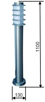 Светодиодный парковый светильник 10Вт (столбик с жалюзи) купить за приемлемую цену с бесплатной доставкой по Киеву