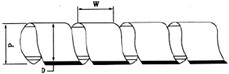 Купить SWB-03 спиральная обвязка внутренний диаметр 3 мм (для увязки проводов в жгуты сечением до 30 квадрат мм) в Киеве по выгодной цене с доставкой