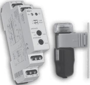 Купить сумеречное реле SOU-1 230V AC (1 x 16A AC1) в Киеве по выгодной цене фотореле с бесплатной доставкой