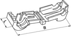 Клемма быстрого монтажа для проводов сечением от 0.5 до 1 квадрат мм Т-образная применяется для оперативного и безопасного соединения (разветвления) двух или более электрических проводников купить в Киеве по выгодной цене с доставкой