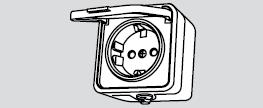 Розетка с заземлением евророзетка наружная установка влагозащита влагозащищенная IP 44  Аско УкрЕМ купить Киев цена