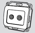 Механизм 2 телевизионной розетки белого цвета установка в стену купить в Киеве по выгодной цене с доставкой механізм 2 телевізійної розетки білого кольору установка в стіну купити в Києві за вигідною ціною з доставкою