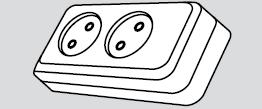 Колодка электрическая 2 розетки (2 места подключения, без заземления) купить Киев цена