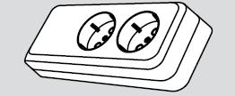 Колодка электрическая 2 розетки (2 места подключения, с заземлением) купить Киев цена