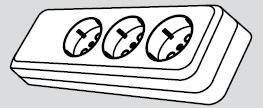 Колодка электрическая 3 розетки (3 места подключения, с заземлением) купить Киев цена
