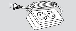 Удлинитель электрический длина 2м, 2 розетки (2 места подключения, без заземления)
