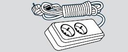 Удлинитель электрический длина 2м, 2 розетки (2 места подключения, с заземлением)