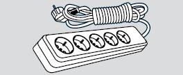 Удлинитель электрический длина 2м, 5 розеток (5 мест подключения, с заземлением)