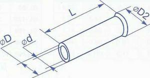 Гильза медная без изоляции для провода сечением 0.5 квадрат мм предназначена для оконцевания многожильных проводников методом опрессовки купить в Киеве по выгодной цене с доставкой