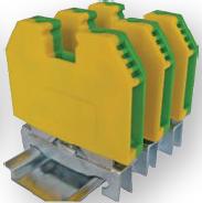 Клеммник (клемма) наборной для заземления – земляной, применяется для внутри приборного или щитового монтажа, для присоединения заземляющего проводника в системах управления, освещения, питания и т.д. Клеммник (клемма) наборной для заземления – земляной устанавливается на Din-рейку, шину Тн-35 купить в Киеве по выгодной цене с бесплатной доставкой
