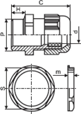 Купить качественный сальник гермоввод, начальный диаметр 7 мм, зажимает герметичный кабельный ввод до 3 мм (PG7) в Киеве по выгодной цене с бесплатной доставкой от надежного поставщика