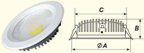 Точечный светодиодный светильник 10Вт Киев купить цена точковий світлодіодний світильник купити Київ ціна