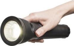Тактический фонарь 12Вт переносной прожектор, с акумулчтором, всепогодный, дальность луча более 500м, пятно 1 кв. м купить в Киеве по выгодной цене с доставкой